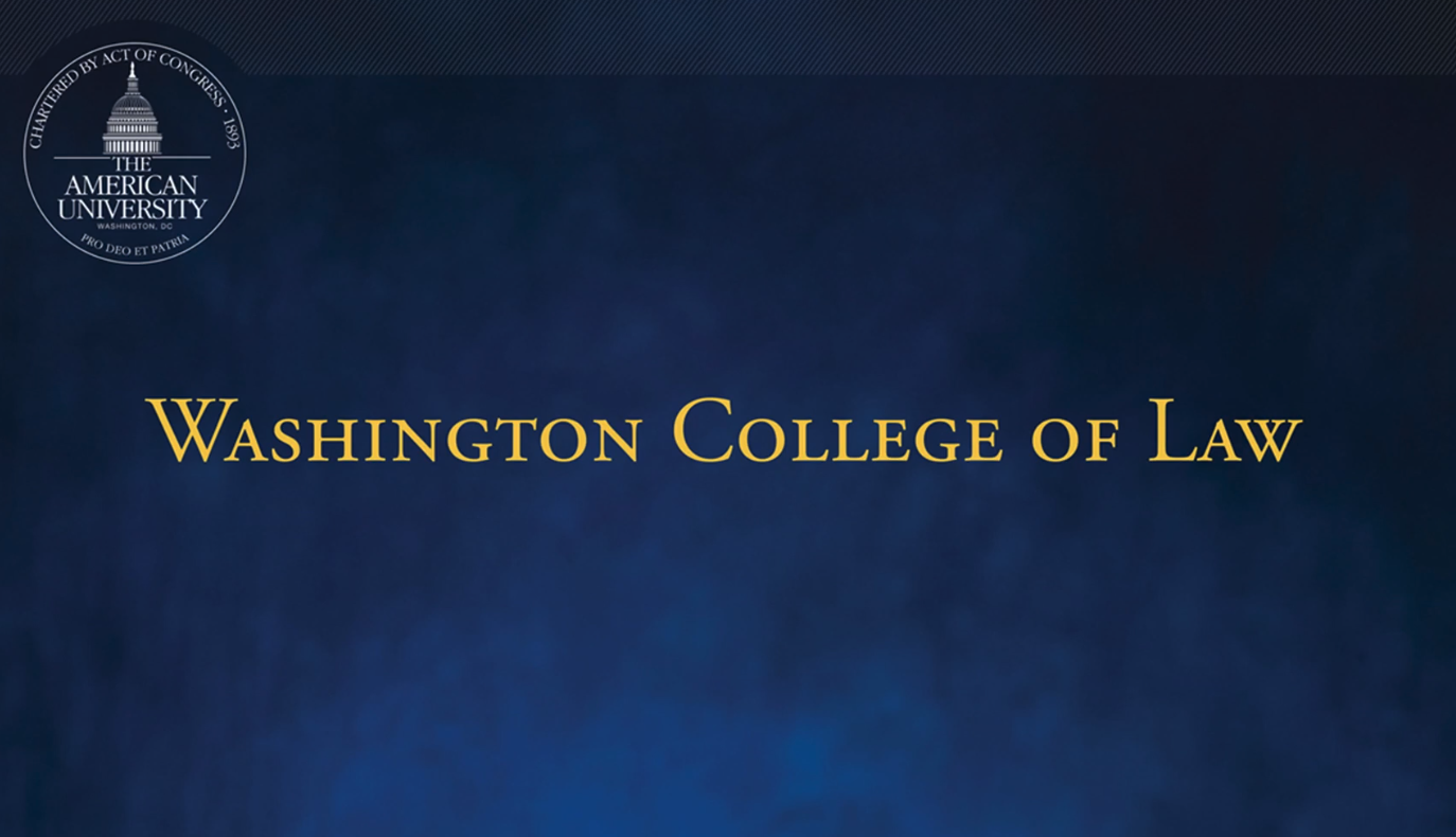 Washington College of Law - 2021 Commencement Procession