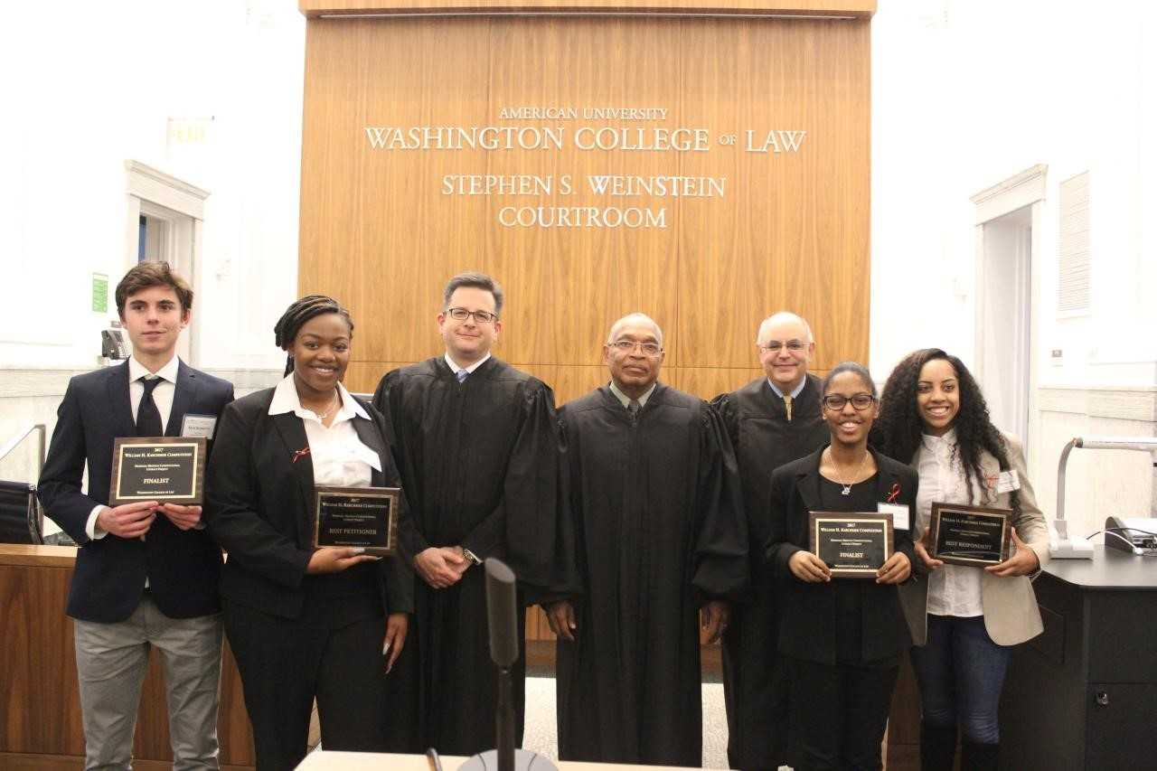 2017 Marshall-Brennan William H. Karchmer Moot Court Competition finalists