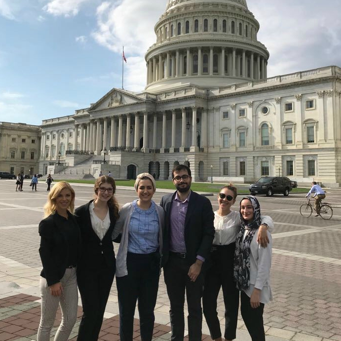 AUWCL students at the U.S. Capitol building