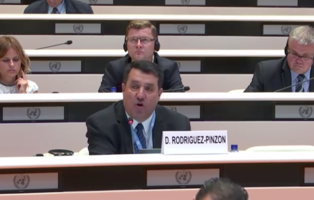 Professor Rodríguez-Pinzón during the 67th session of the UNCAT