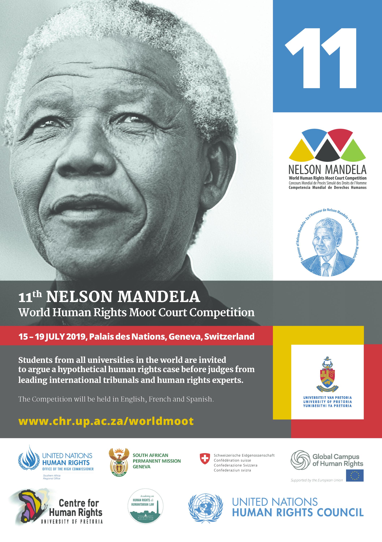 Poster for Nelson Mandela World Moot
