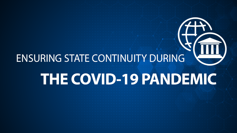 World Bank Webinar on Ensuring State Continuity During the Covid-19 Pandemic