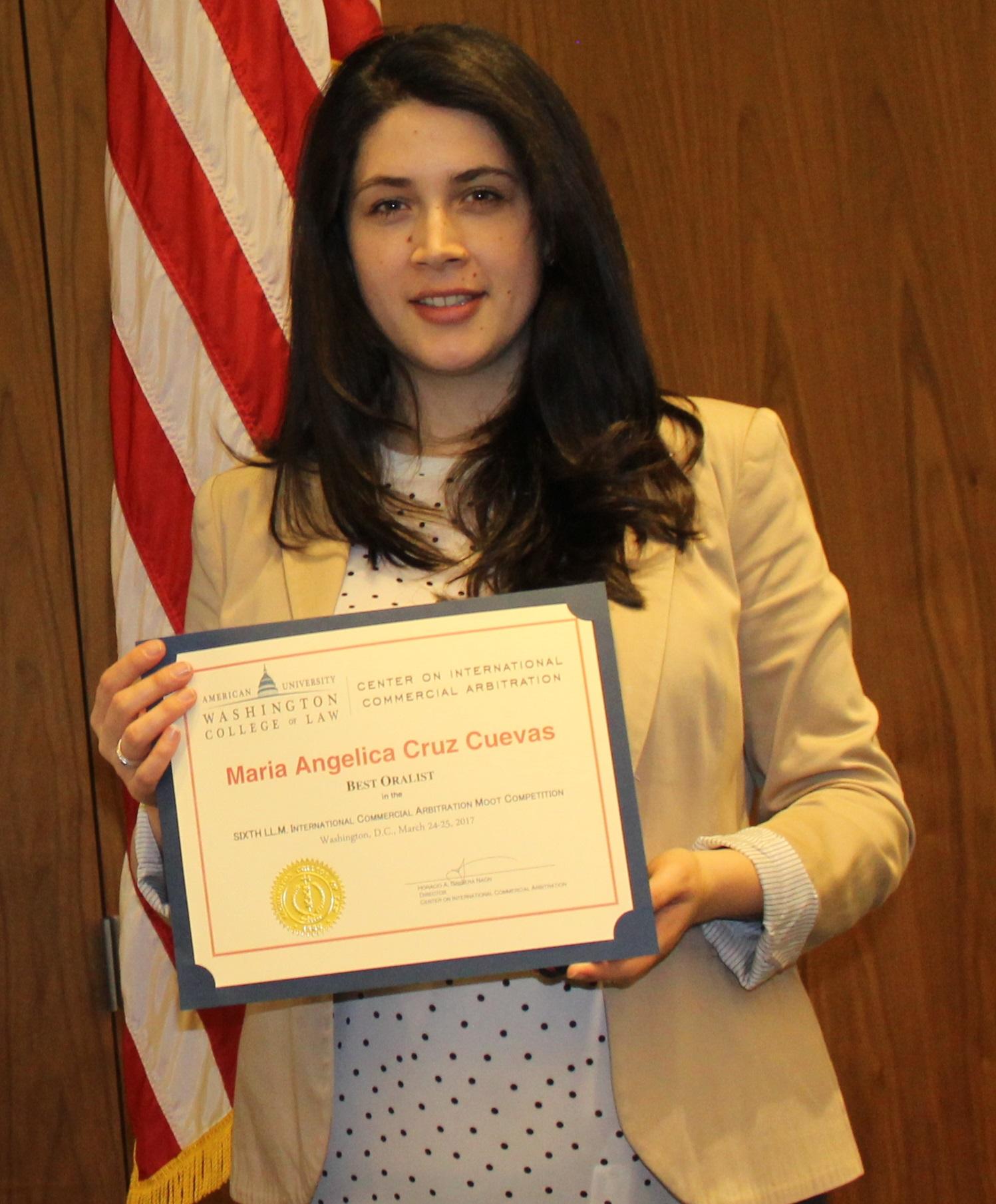 María Angélica Cruz Cuevas, Washington College of Law
