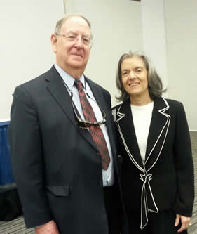 US District Judge Peter Messitte and President-Minister of Brazil's Supreme Federal Tribunal Carmen Lucia