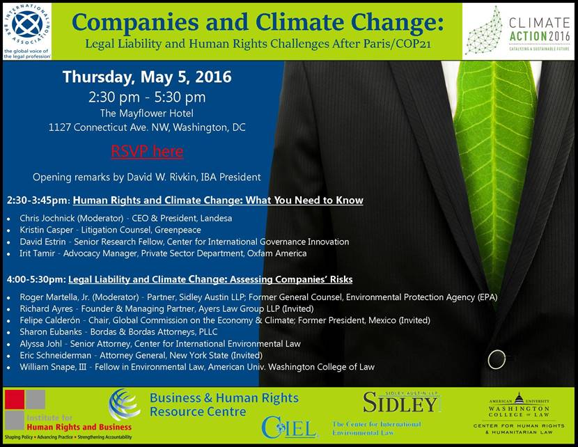 Companies and Climate Change: Legal Liability and Human Rights Challenges After Paris/COP21