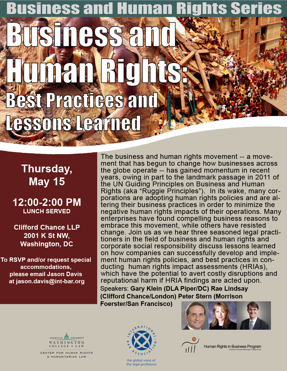 Business and Human Rights: Best Practices and Lessons Learned