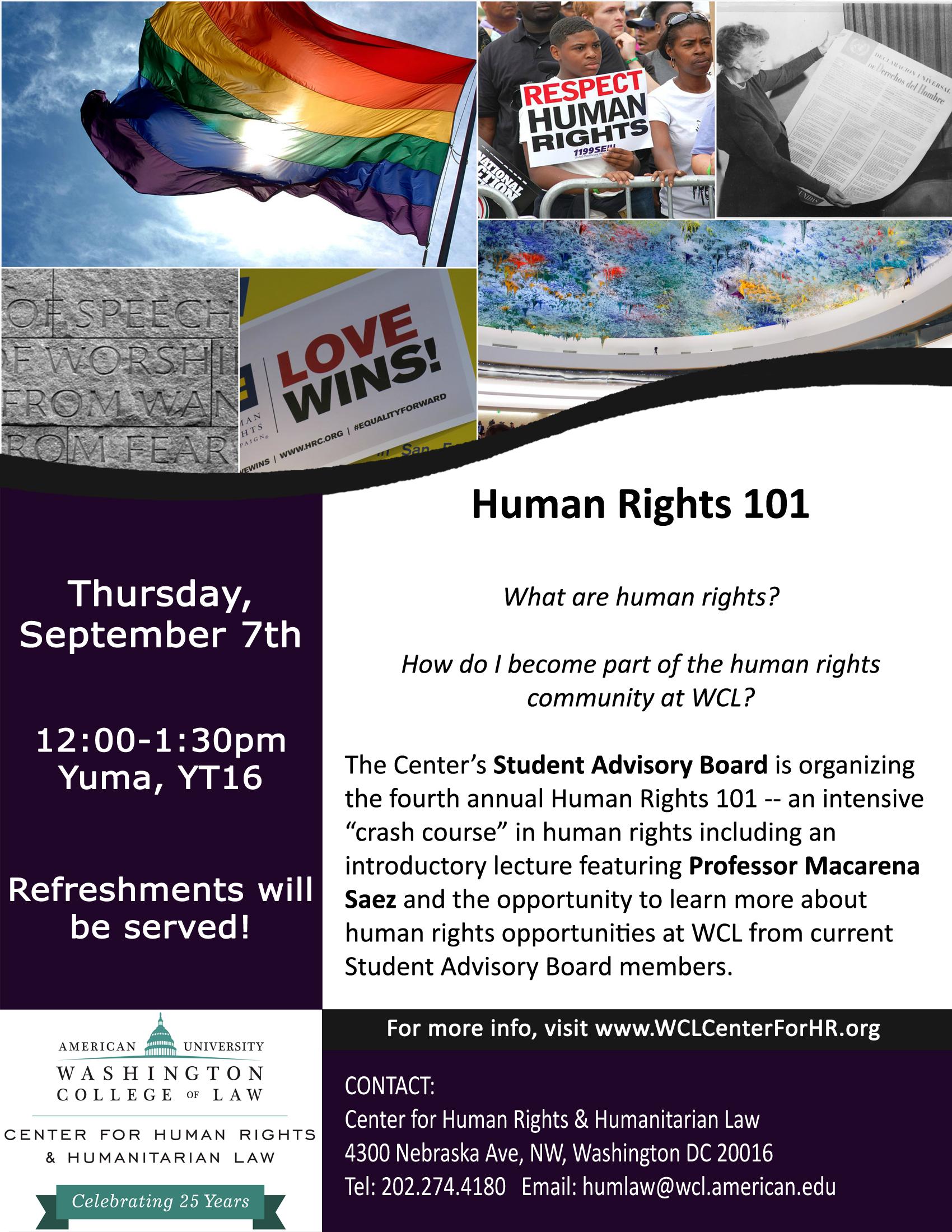 Introduction to Human Rights & International Humanitarian Law