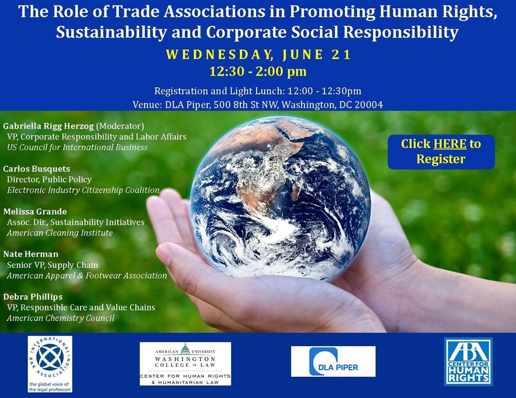 The Role of Trade Associations in Promoting Human Rights, Sustainability and Corporate Social Responsibility