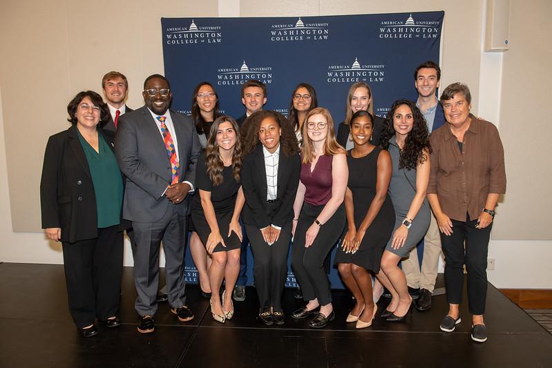 Judge Williams with IPC Students