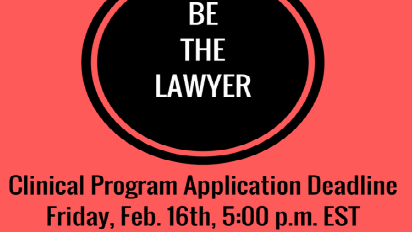 Clinic Application Deadline: Friday, February 16th