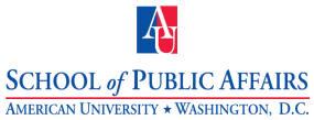 logo of AU School of Public Affairs