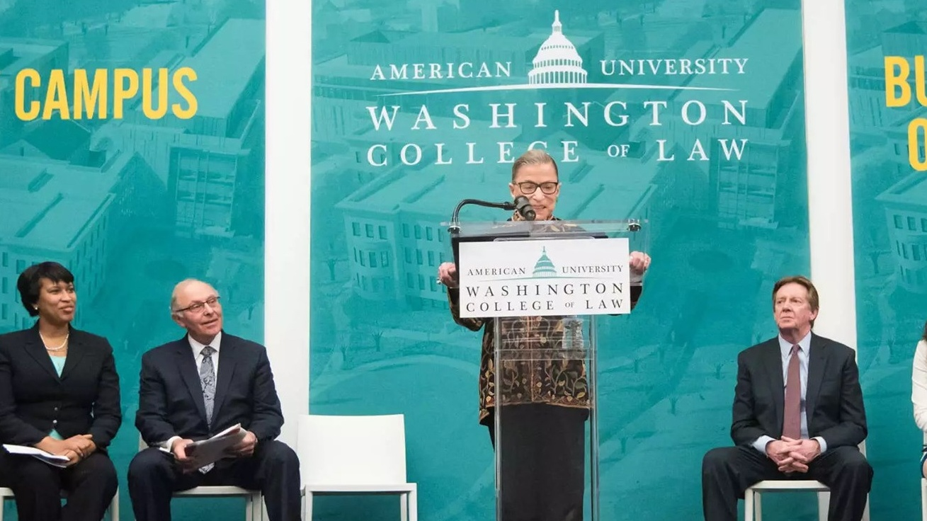 Remembering Justice Ruth Bader Ginsburg, A Longtime Friend of Washington College of Law