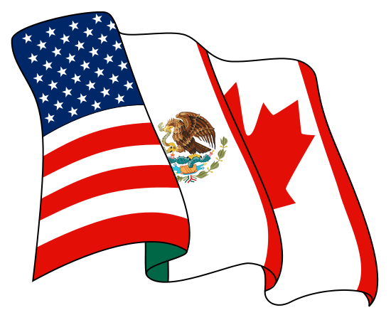 NAFTA-flag by Nicoguaro