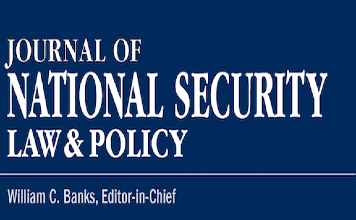Journal of national security law & policy logo