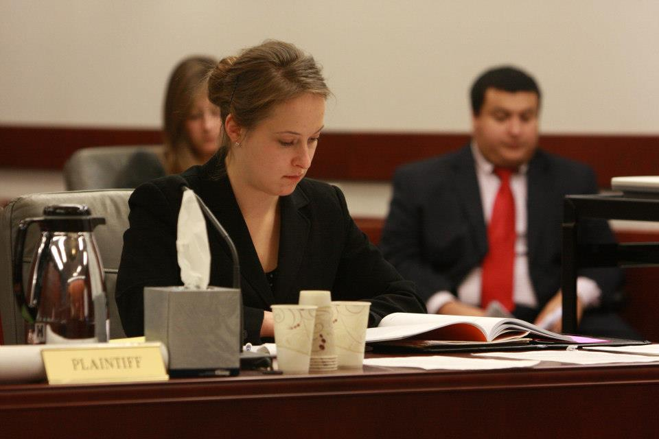 Students at mock trial competition