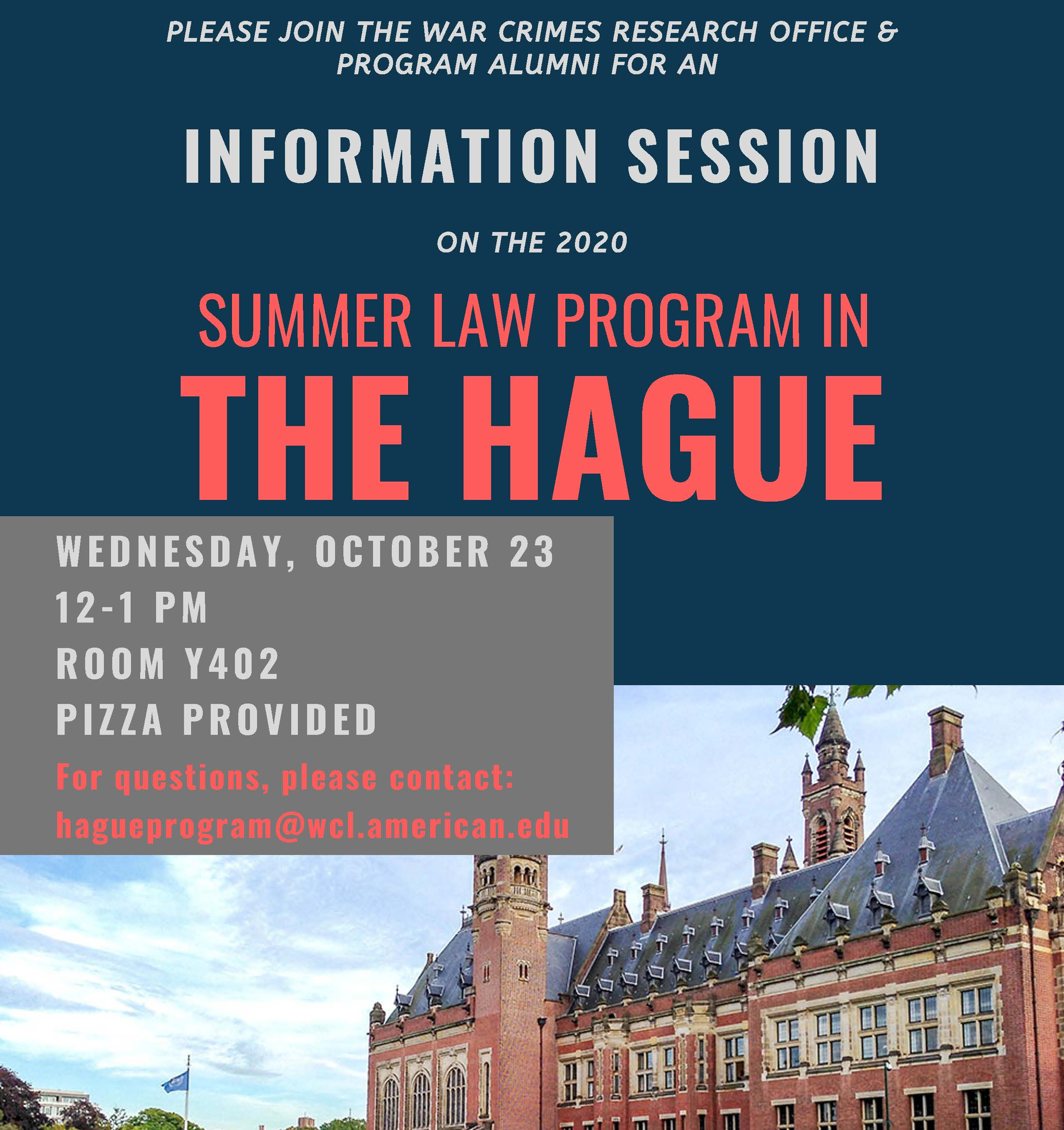 2020 Summer Law Program in The Hague Information Session