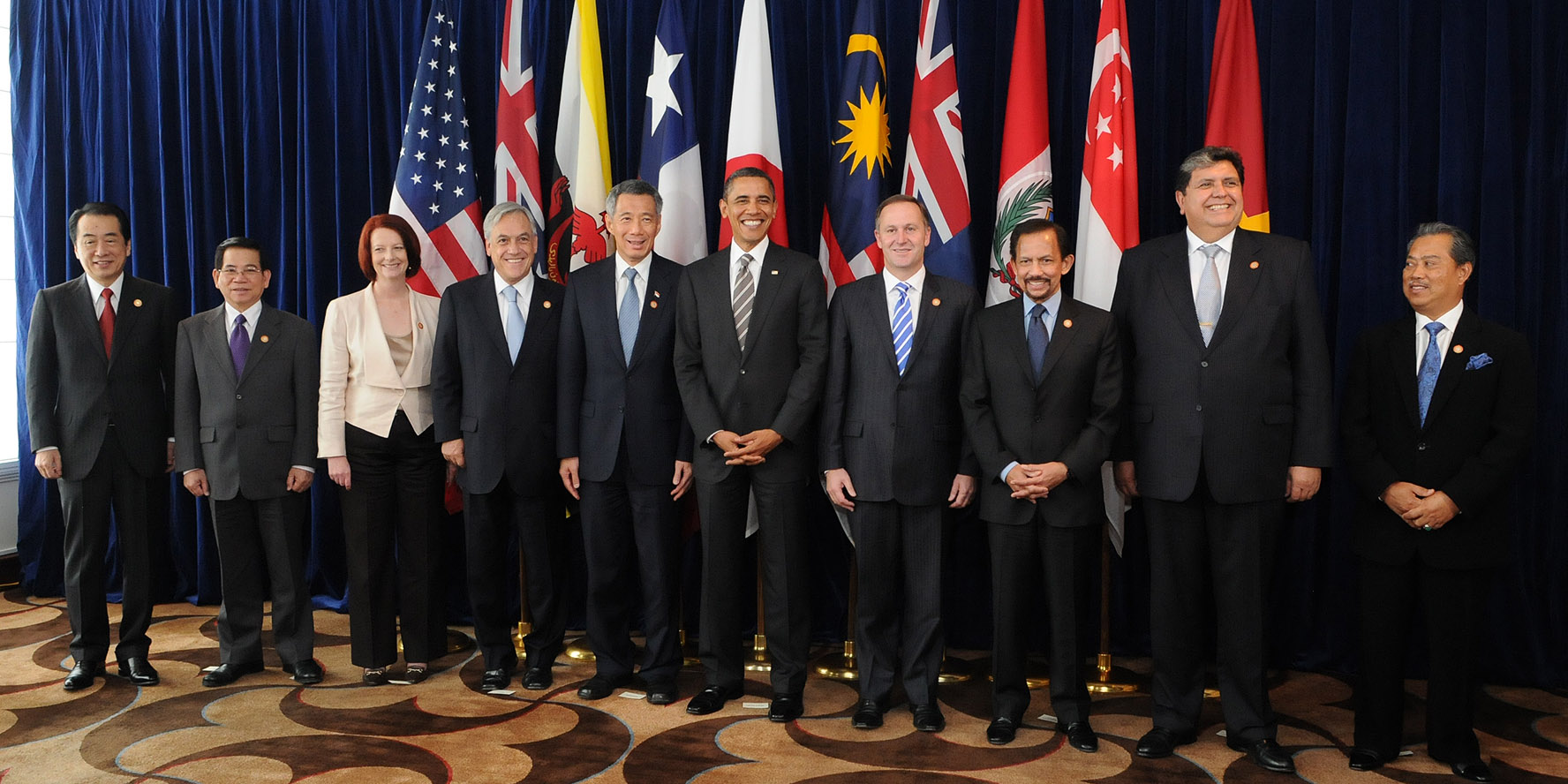 A summit with leaders of the (then) negotiating states of the Trans-Pacific Strategic Economic Partnership Agreement (TPP).