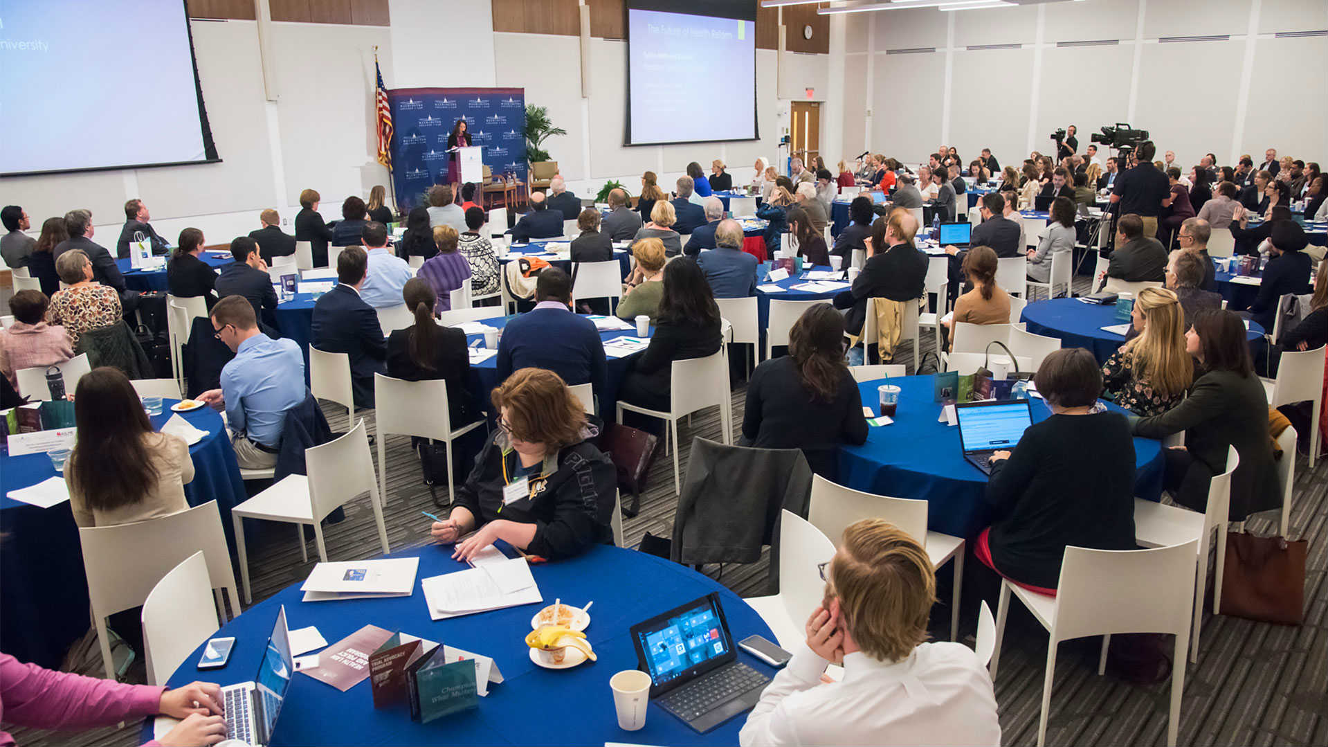 Our location in Washington, DC gives American University Washington College of Law access to the greatest legal minds the nation's capital has to offer, and our innovative programs continuously invite policymakers and top speakers to campus to address today's hottest topics. At AUWCL, you will hear from, meet, and network with the best!