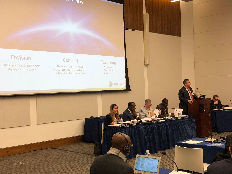 International Telecommunications Satellite Organization panel.