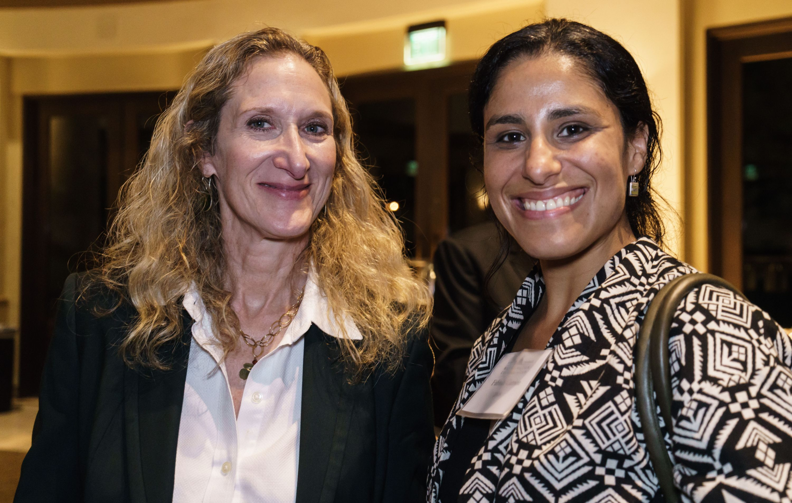 Sarah Chenetz '83, partner at Perkins Coie LLC and Fabiola Carrion '08