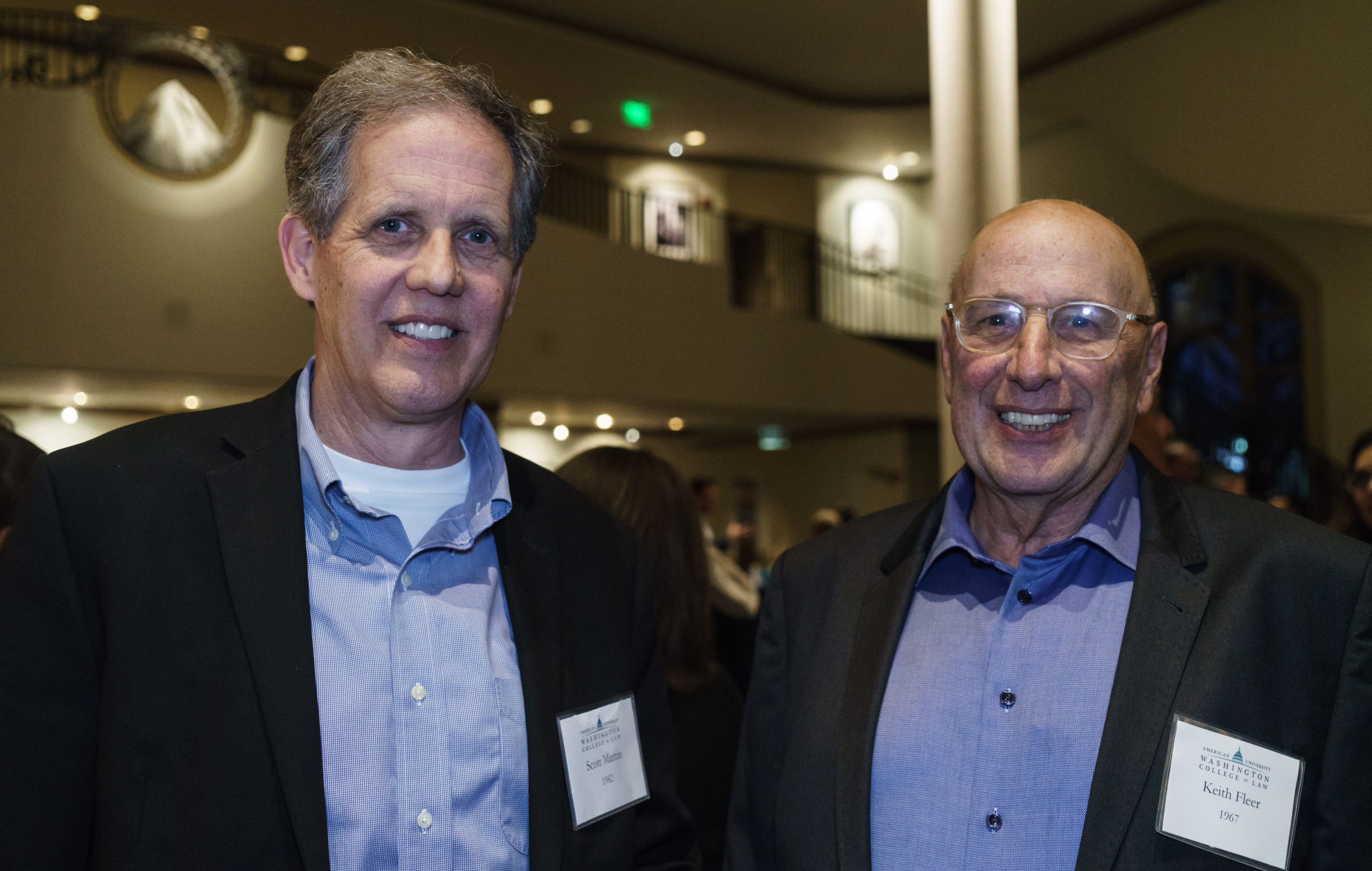Scott Martin '82, deputy general counsel of Paramount Studios, and Keith Fleer '67