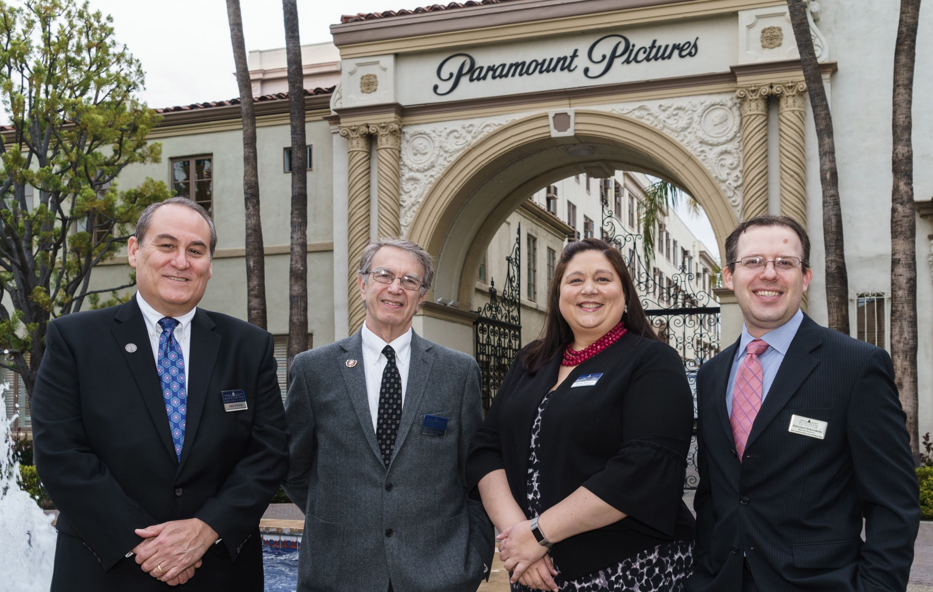 Assistant Dean of Admissions Akira Shiroma, Professor Andrew F. Popper, Associate Director of Admissions Brooke Sandoval, and former Director of Major Gifts Jonathan Strausberg.