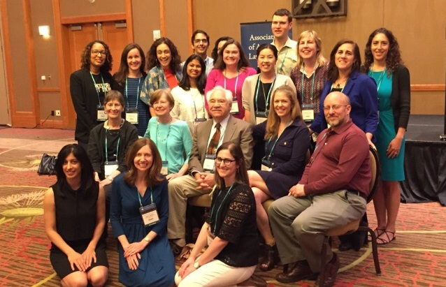 Clinic faculty at the 2017 AALS Clinical Legal Education Conference, where Professor Milstein, middle, was honored with the CLEA Award for Outstanding Advocate for Clinical Teachers.