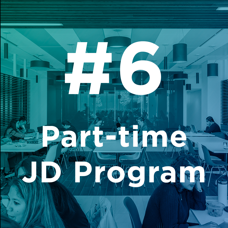 #6 Part-time JD Program