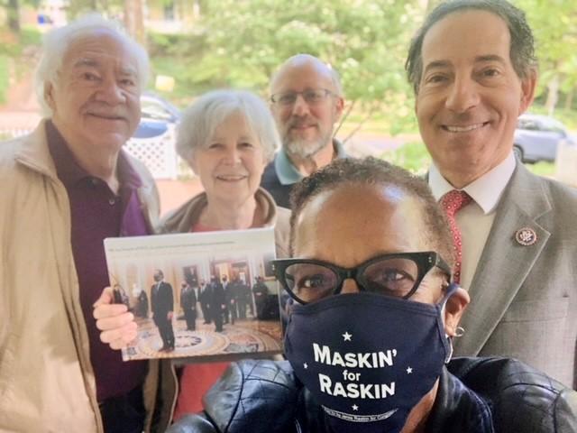 Jamie Raskin with law school colleagues