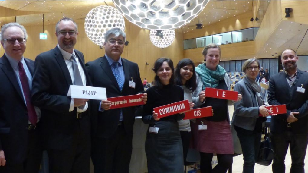PIJIP Director Sean Flynn and members of the coalition at the World Intellectual Property Organization for a meeting of teh Standing Committe on Copyright and Related Rights.