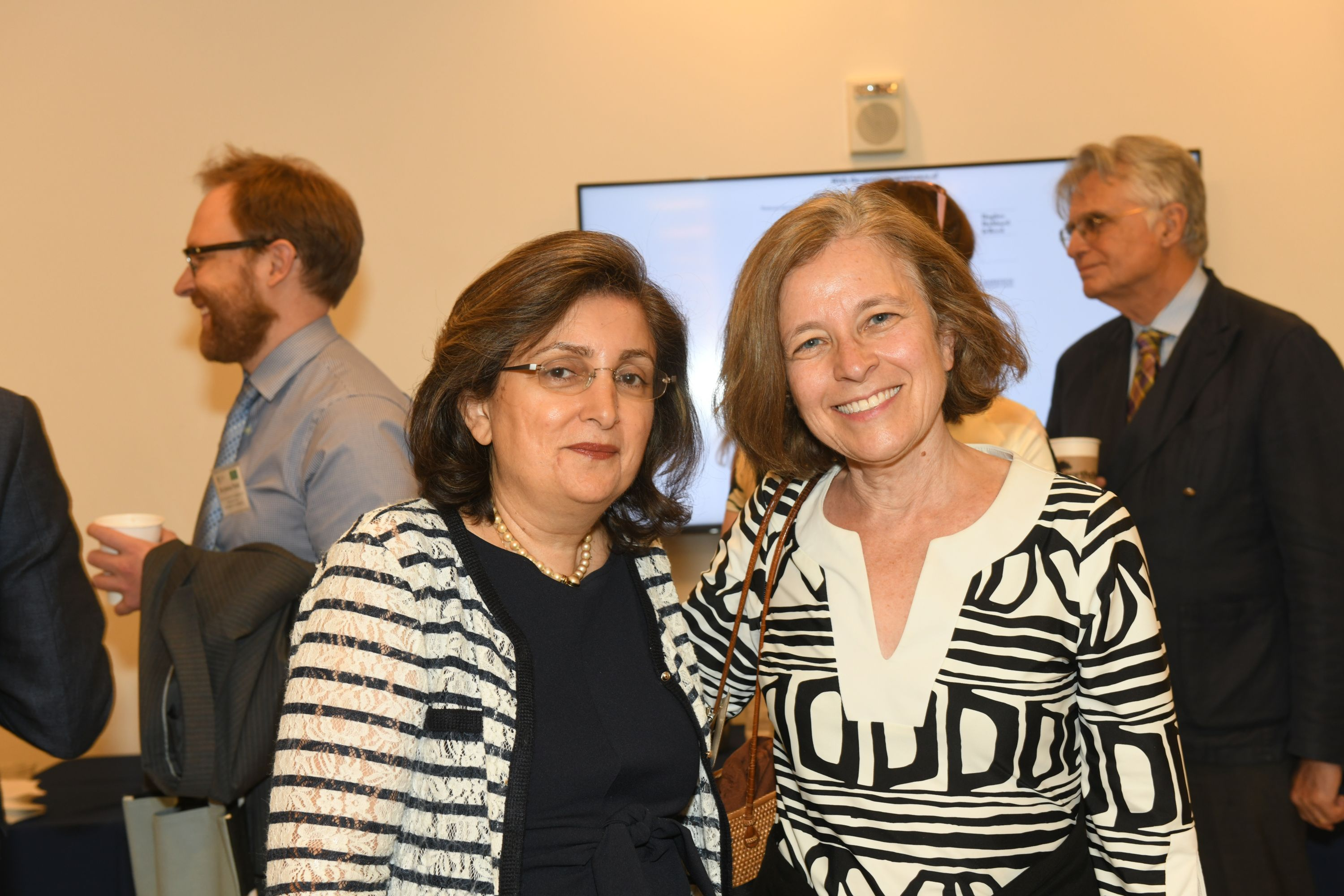 Left to right: Padideh Ala'i, Director of International and Comparative Legal Studies at AUWCL; Sarah Raskin, former United States Deputy Secretary of the Treasury.