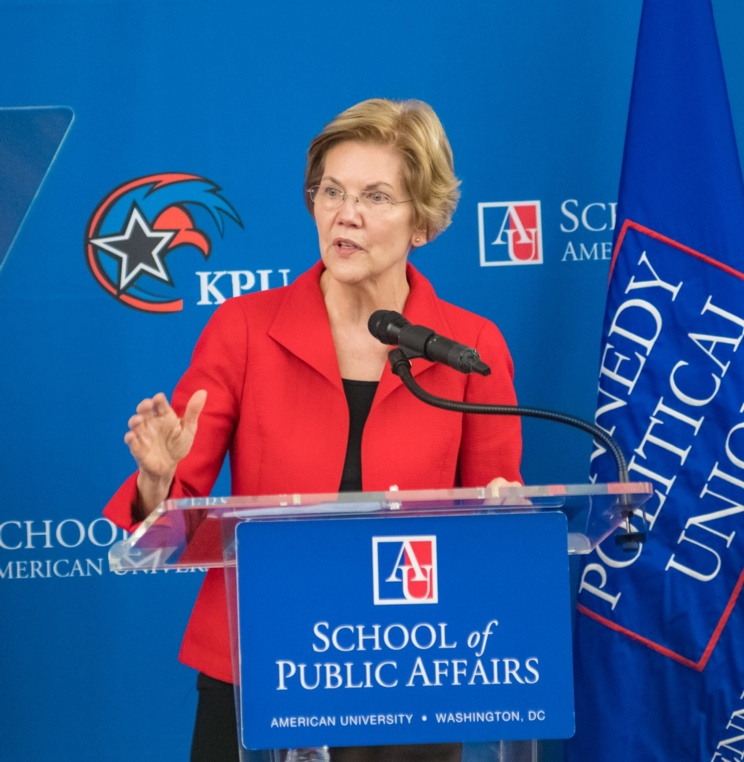 Sen. Elizabeth Warren Discusses Trade, Democracy During Foreign Policy Address at AUWCL