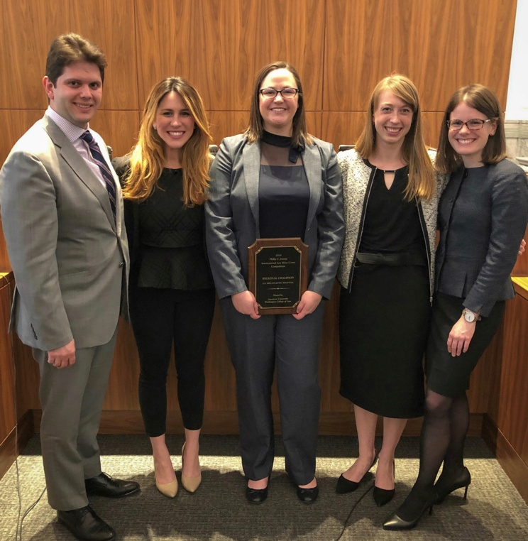 AUWCL Places First at Regional Jessup International Law Moot Court Competition