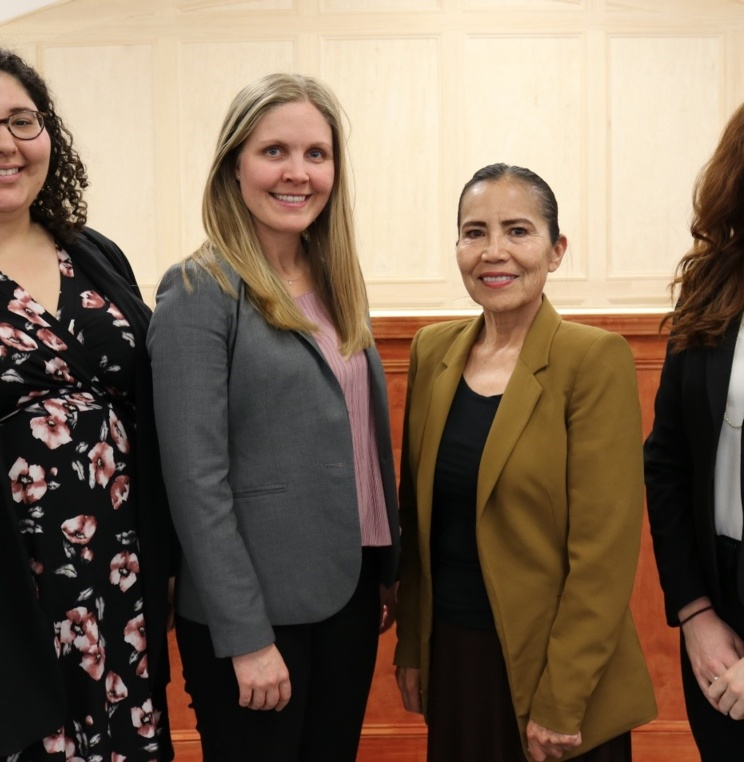 Dalya, Karina, and Audrey with JoAnn Jayne, Chief Justice of the Navajo Nation Supreme Court.