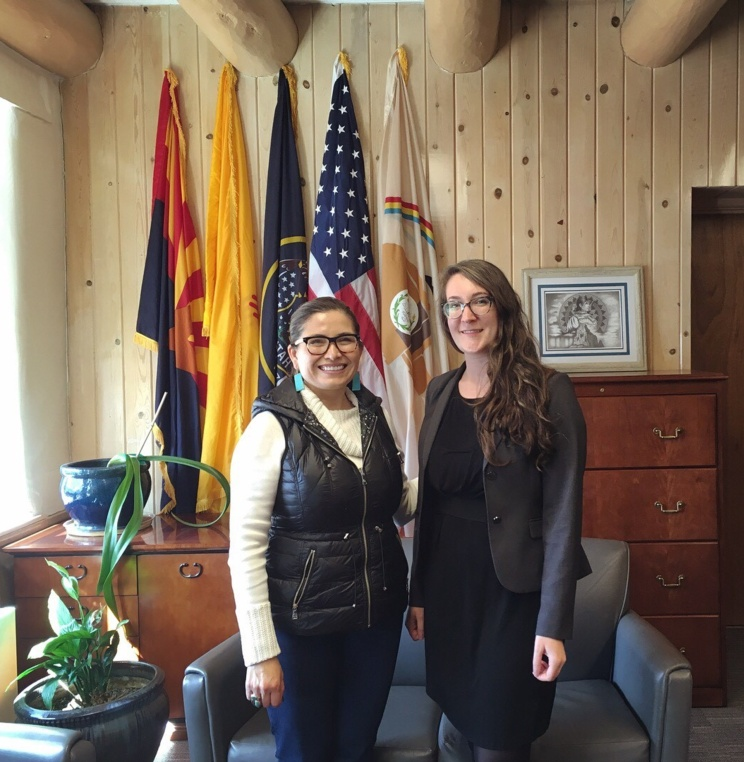 2L Chelsea Lalancette with Ethel Branch, Attorney General of the Navajo Nation.