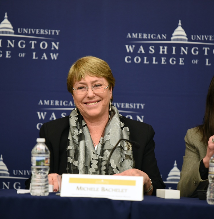 AUWCL Welcomes UN High Commissioner for Human Rights Michelle Bachelet