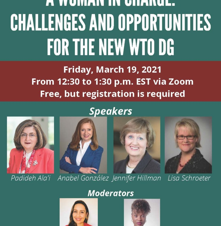 A Woman in Charge: Challenges and Opportunities for the New WTO DG