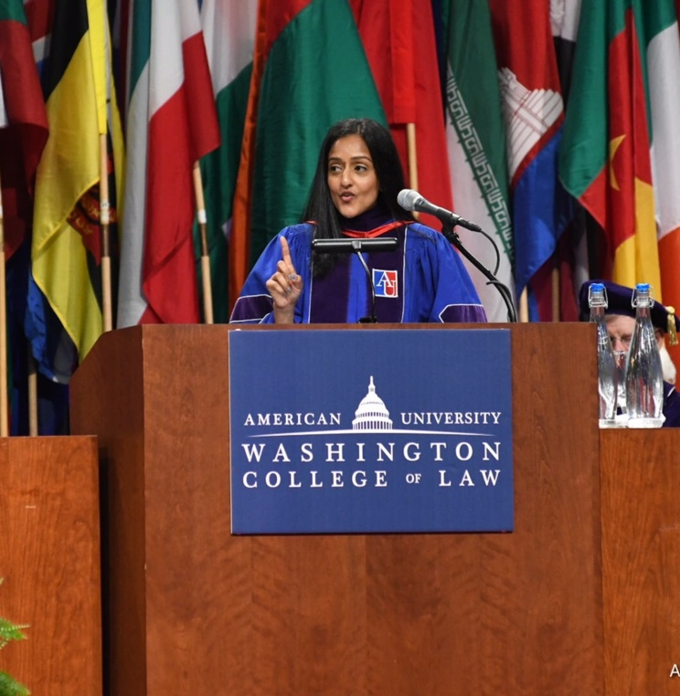 Vanita Gupta, President and CEO of The Leadership Conference, Delivers Commencement Address to Washington College of Law Class of 2018
