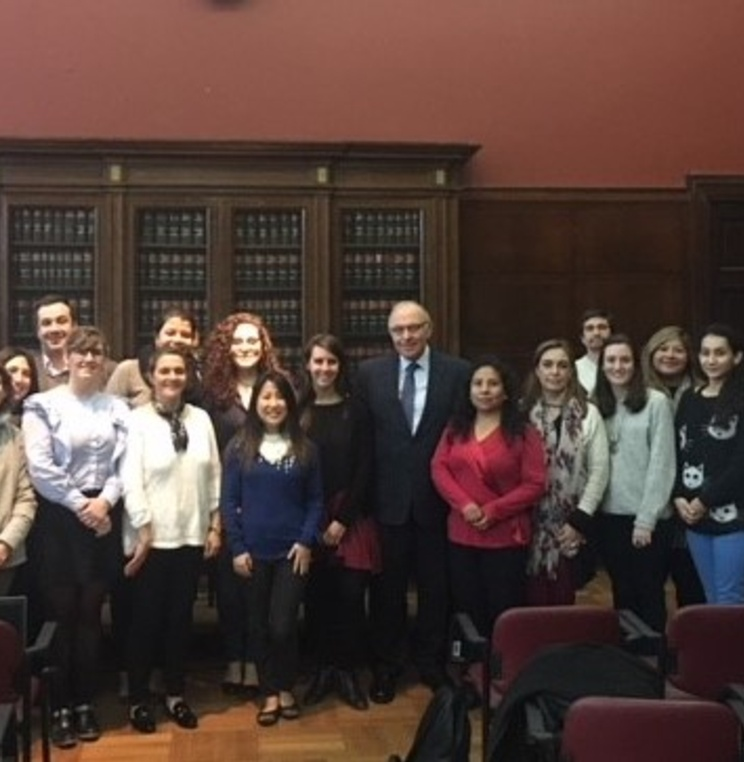 Dean Emeritus Claudio Grossman Presents a Lecture at the University of Buenos Aires