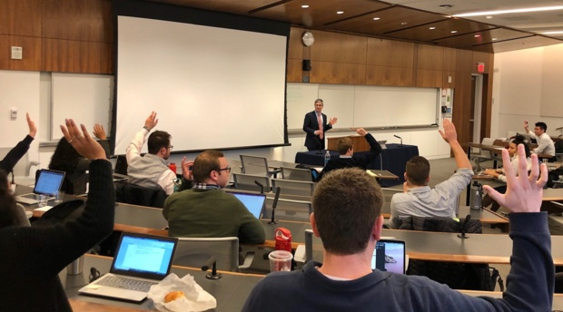 Professor Ben Leff leads a session on an introduction to tax.
