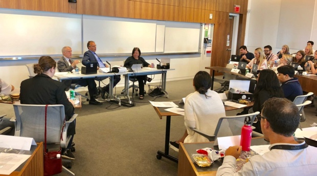 New students have lunch with their 1L faculty to learn more about law school and the curriculum.