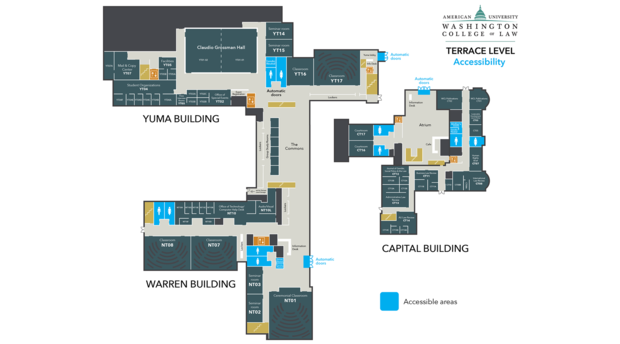 Maps - Our Campus - American University Washington College of Law Wu Campus Map on