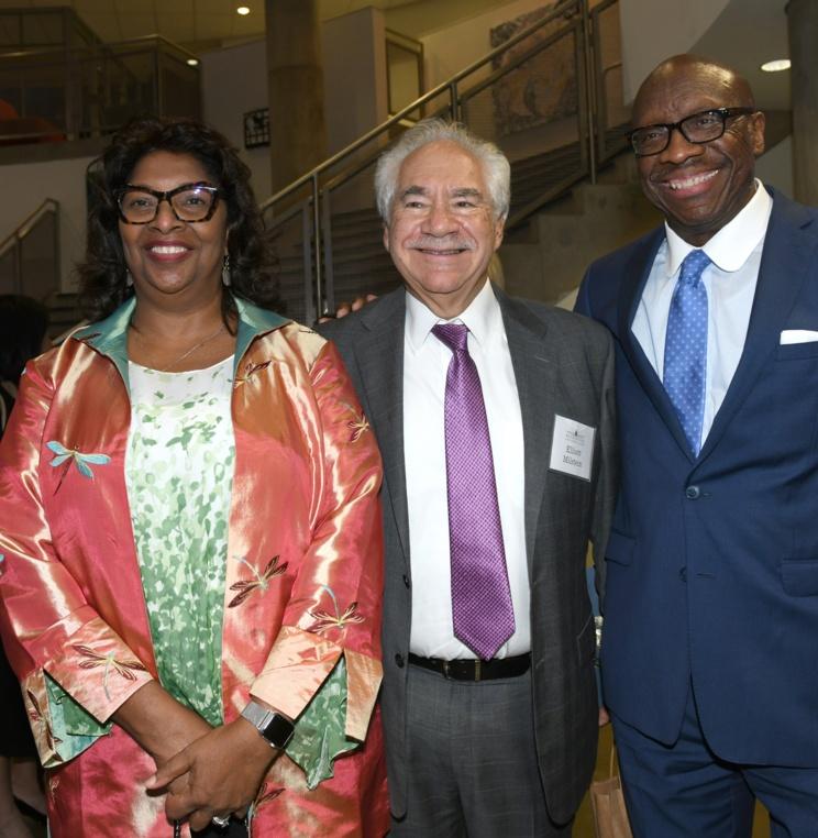 Edna Ruth Vincent '89, Professor Elliott Milstein, and Judge Gerald Bruce Lee BA '73/JD '76.