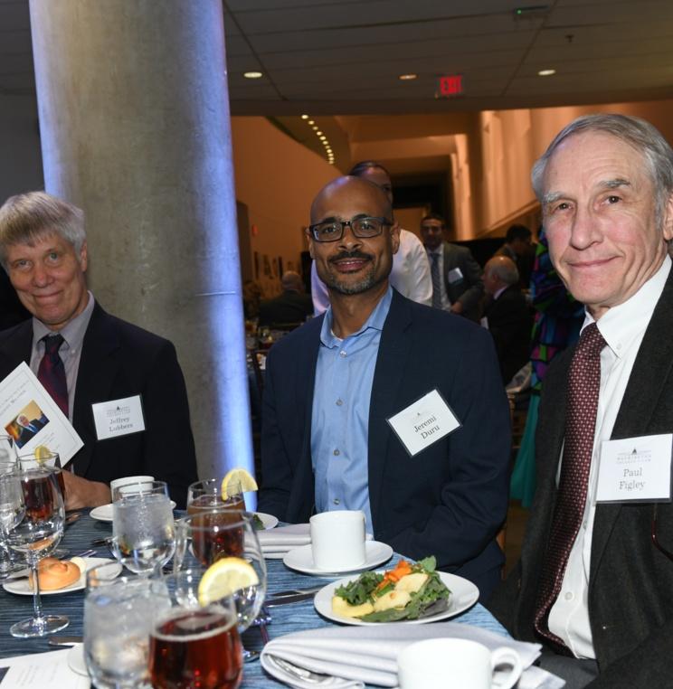Professors Jeff Lubbers, Jeremi Duru, and Paul Figley.