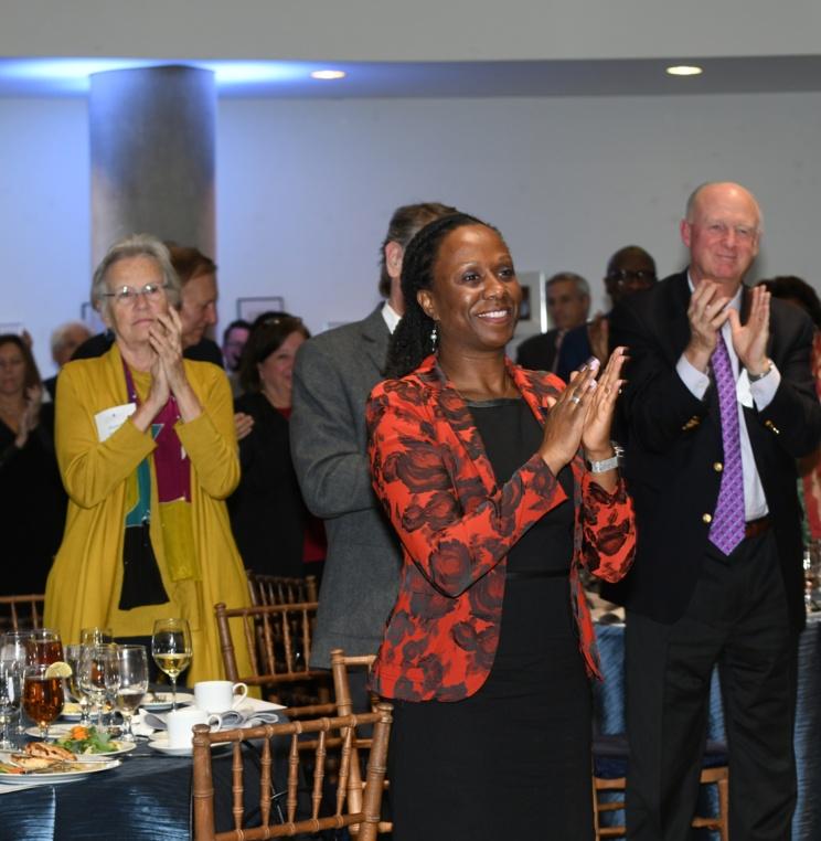 Dean Nelson celebrating Professor Milstein