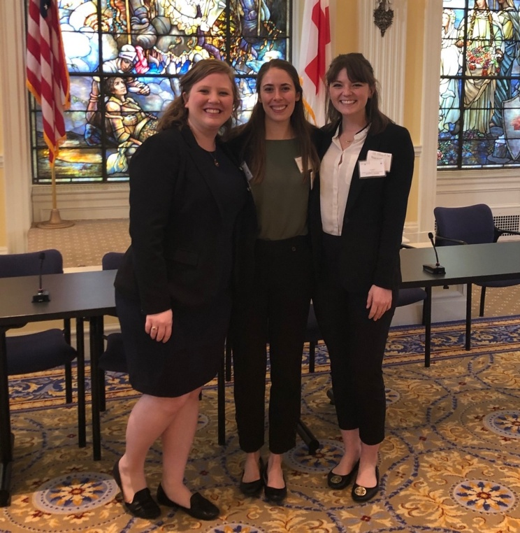 3L Lindsey Miller and 2Ls Kate Tomaszewski and Rachel A. Bruce.