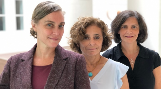 Left to right: Associate Director of Women and the Law Program Daniela Kraiem, Co-Director of the Academy on Human Rights and Humanitarian Law Claudia Martin, and Director of War Crimes Research Office Susana SáCouto.