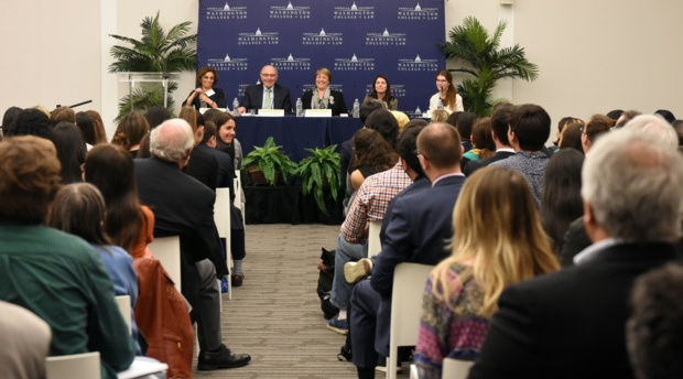 The presentation drew in more than 250 people from the extended AUWCL, human rights, and legal communities.