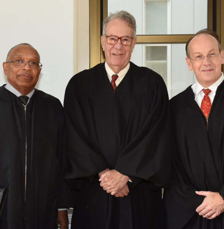 U.S. District Court Judge Reggie Walton, U.S. Federal Circuit Court of Appeals Judge Timothy Dyk, and former U.S. Solicitor General Paul Clement