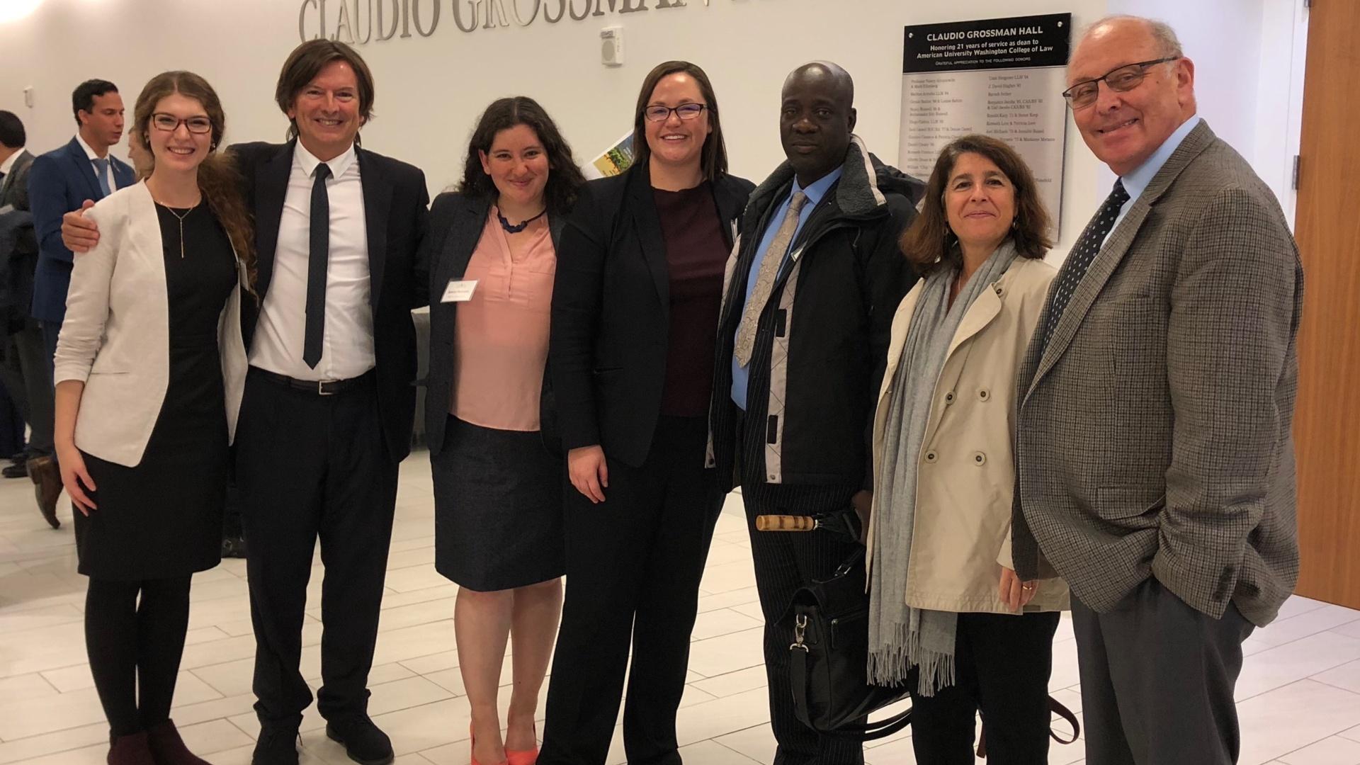 Alexa August, Mario Coriolano,Sarah Fraenkel, Medea Jones, Yacouba Cissé, Patrícia Galvão Teles, and Claudio Grossman